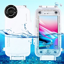 For IPhone 7 & 8 40m Waterproof Diving Housing Photo Video Taking Underwater Cover Case(White)