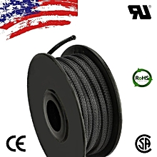 ALL SIZES 20FT - 100 FT Black Expandable Wire Cable Sleeving Braided Tubing LOT 20mm