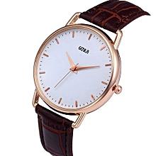 Technologg Watch  Men Fashion Color Strap Digital Dial Leather Band Quartz Analog Wrist Watches-As Show