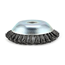 150*25mm Rotary Weed Brush Steel Flat Wire Wheel Bench Grinder Polish