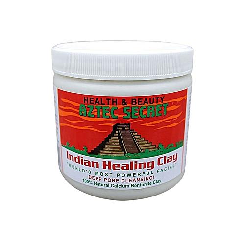 bc41f46fb965b Indian Healing Clay - 1 lb. - Deep Pore Cleansing Facial & Body Mask - 100%  Natural Calcium Bentonite Clay