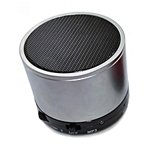 Mini Bluetooth Wireless Stereo Speakers FM, Memory Card, Bluetooth, USB - Silver