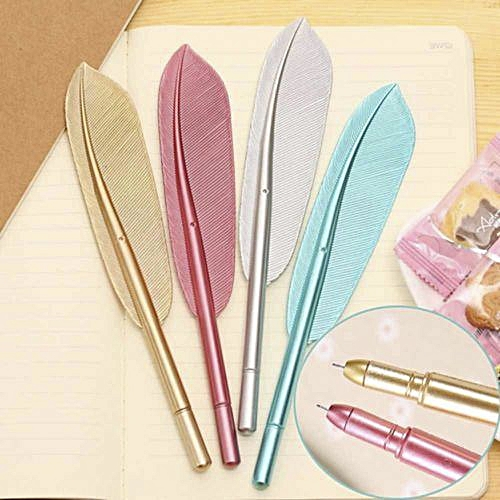 Generic Cute Feather Gel Pens Office School Students Writing Stationery Birthday Gift