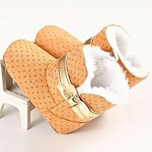 bluerdream-Baby Toddler Infant Girl Snow Boots Soft Sole Prewalker Crib Shoes KH/11-Khaki