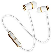 Sports Wireless Bluetooth Earphone Headset Bass Stereo Running Gold