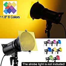8-Color 12''x 12'' Gel Filter For Strobe Light Photography Flash Studio Lighting