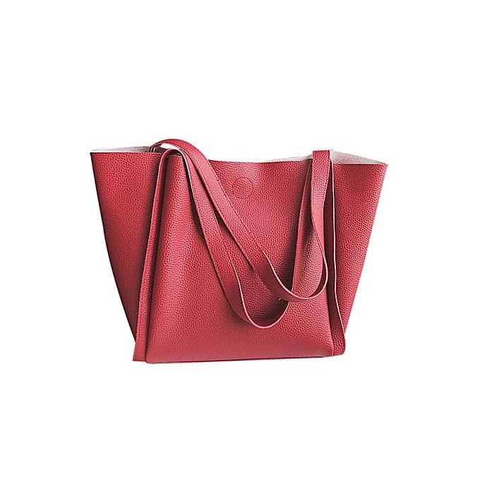 2439e4ca6913 Zetenis Women Two Piece Shoulder Bag Handle Bags Fashion Messenger Bags  Handbag Bag -Red