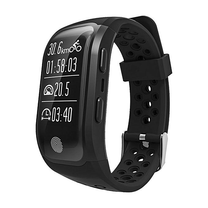 S908 Professional GPS Sports Band Waterproof IP68 Swimming Smart Bracelet black