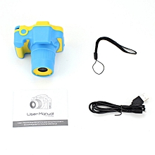 CO D10 Full HD 1080P Digital Video Camera 2 Inch LCD Screen Children Mini DV-yellow & blue