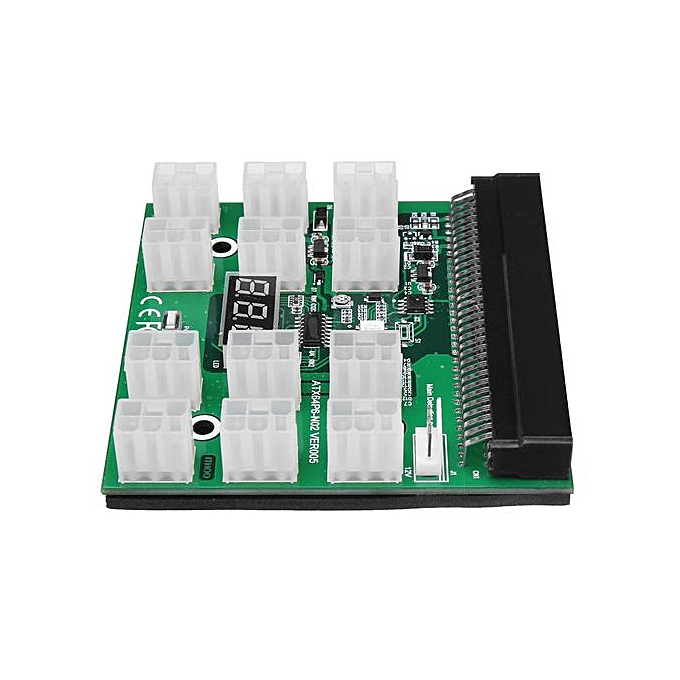 1200w/750w Breakout Board for HP PSU GPU Mining Ethereum ZEC ZCASH ETH W/  Button