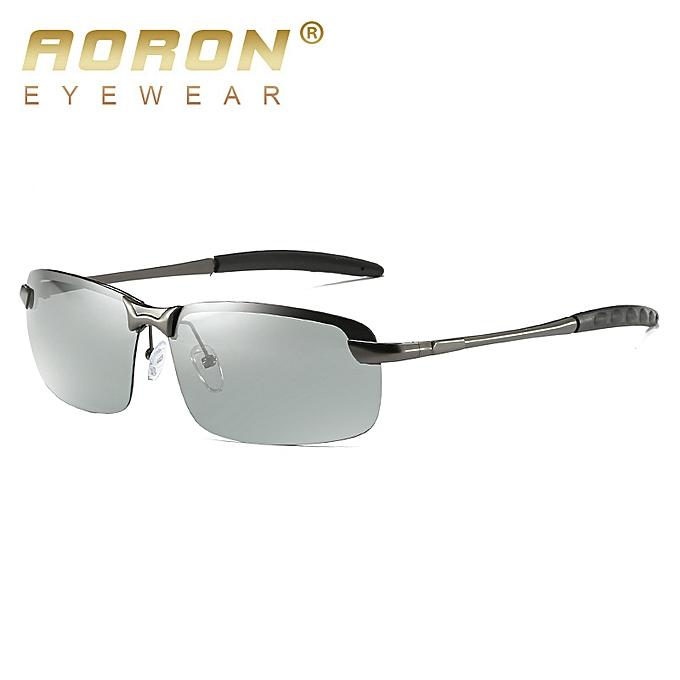 9a7e07c9186 AORON Photochromic Sunglasses Unisex Polarized Discoloration Eyewear Men  and Women Anti Glare Sun Glass HD Driving