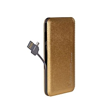 12000 MAh Ultra Slim Power Bank- Gold