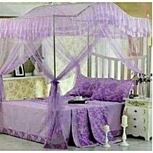 Mosquito Net 5x6 with Metallic Stand (Curved) - Purple