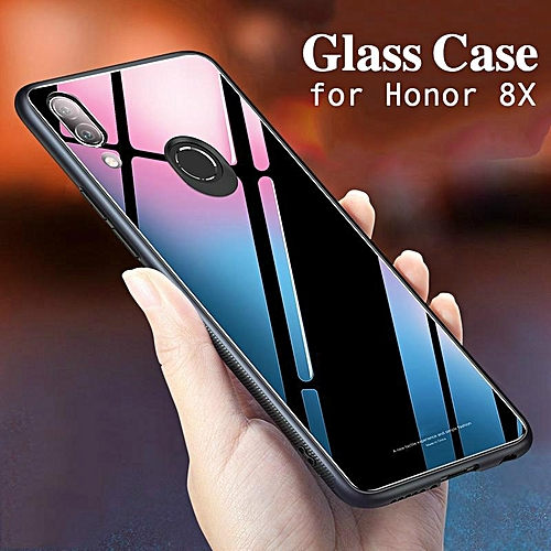 Glass Case For Honor 8x Cover Full Protection Tempered Glass Back Cover  Casing For Huawei Honor 8X Housing