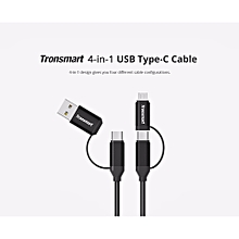 Tronsmart C4N1 4-in-1 Type-C Cable Built-in Micro USB & USB 2.0 Adaptors for Samsung Galaxy Google Pixel/Pixel XL and Other USB Type-C Compatible Devices QTG-W