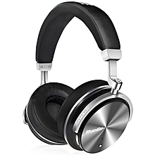 Bluedio T4S Active Noise Cancelling Over-ear Swiveling Wireless Bluetooth Headphones with Mic -BLACK