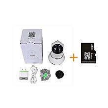 Nanny Camera-HD-Phone monitoring-Rotatable+32 GB SD-White