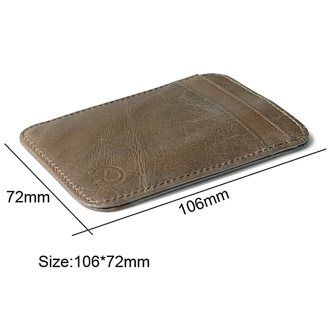3 Pcs Xiao Yuan Xiang Genuine Leather 5 Card Pocket Sleeve Wallet Coin Purse Credit Card Holder Size 10 6cm X 7 2cm Random Color Delivery