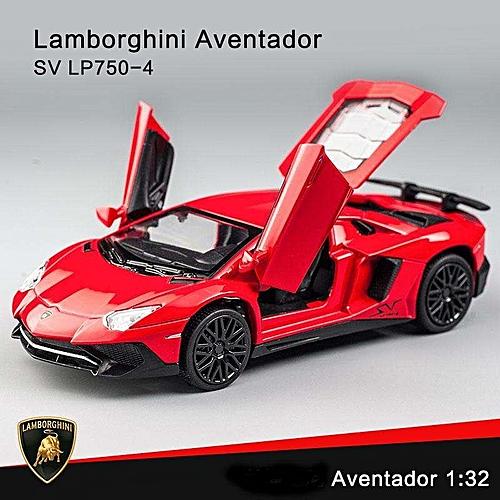 Generic Elegant Lamborghini Aventador Sv Lp750 4 Pull Back Toy Cars