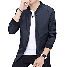 Spring And Autumn Thin Men's Baseball Collar Solid Coat Korean Version Of Self-cultivation Plus Size Jacket Men