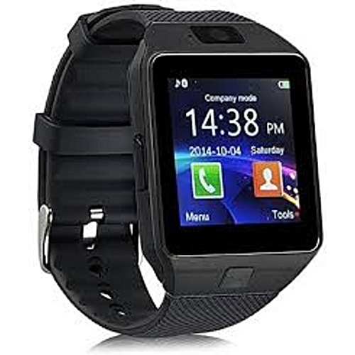 DZ09 Bluetooth Smart Watch - 128MB ROM - 64MB RAM  - Black