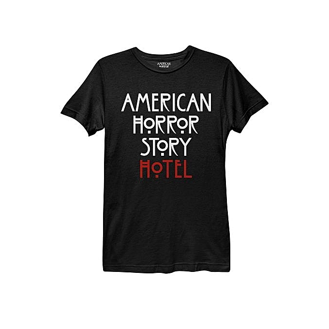 82a95ce77154 Mens Personality T Shirt American Horror Story Hotel Logo Men's Fitness T- shirt