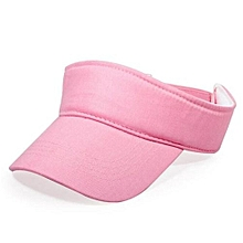 2016 Cotton Empty Top Hat Children Kids Solid Sun Hat Visor Hat Free Customized Wholesale And Retail Group Advertising Cap(Pink)