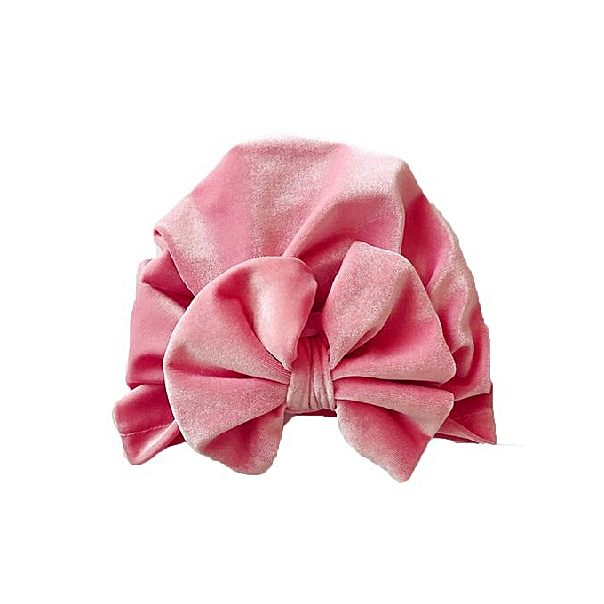 Braveayong 1Pc Newborn Toddler Kids Baby Boy Girl Bowknot Turban Beanie Hat  Headwear Hat -Pink eaefd912177c
