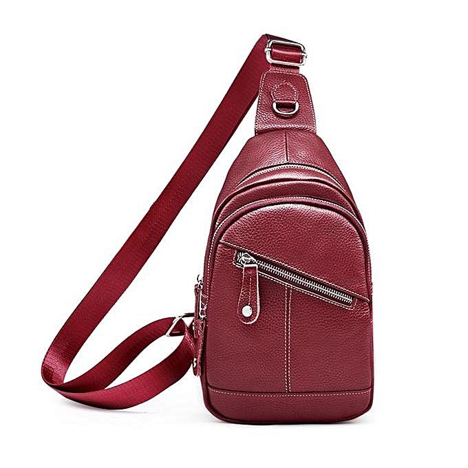 a6b98989d865 Sling Bag Men sports bag chest bag leather outdoor shoulder casual  crossbody chest bag men s leather