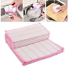 Cotton fiber wash dish cloth 3 layer thickening cleaning cloth for kitchen towel