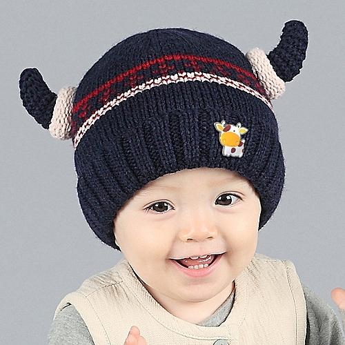 cb66f30ecf954 Generic jiuhap store Cute Winter Baby Kids Girls Boys Warm Woolen Caps Hats  NY-Navy