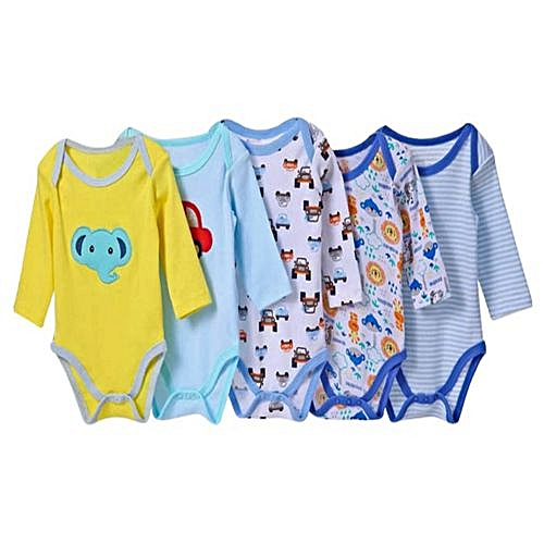 d5fdbf8cc CARTERS Carter's 5 Pack Assorted Boys Long Sleeved Cotton Bodysuit-Different  colors @ Best Price | Jumia Kenya