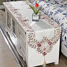 Embroidered Flower Table Runner Mat Tablecloth Wedding Party Home Decorative