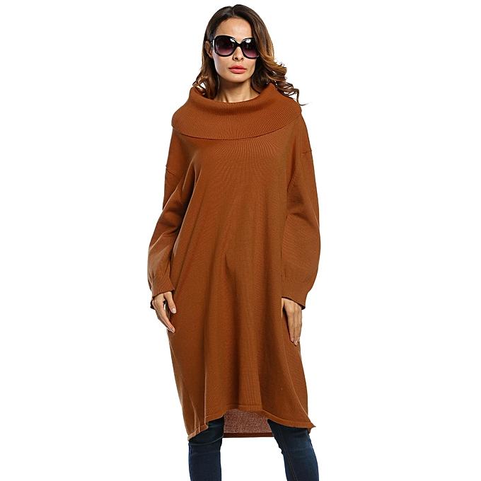Buy Toprank Womens Turtleneck Long Sleeve Solid Loose Pullover