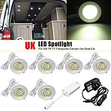 LED Spot Lights Interior Lamps For VW T4 T5 Transporter Camper Van Boat UK Plug #white
