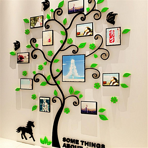 Generic 3d Photo Frame Family Tree Wall Decal Stickers Living Room