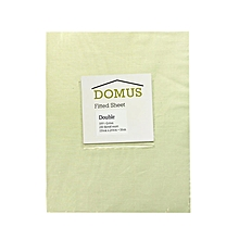 Fitted Sheet - Double - 150cm x 200cm - 250T Cotton - Ivory