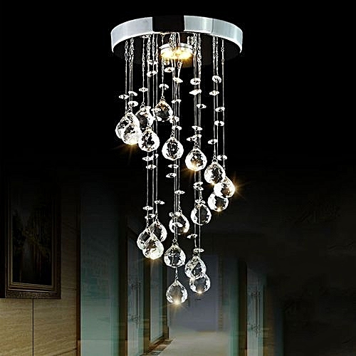Modern Crystal Chandeliers Lighting LED Pendant Lamp For Living Room /  Dining / Bedroom / Hallway