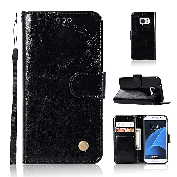 new style ab4a9 6f78b Casing For Samsung Galaxy S6 (G920),Reto Leather Wallet Case Magnetic  Double Card Holder Flip Cover