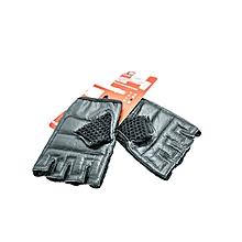 Fitness Glove Mesh Cotton/Leat- Bw-83-C- L