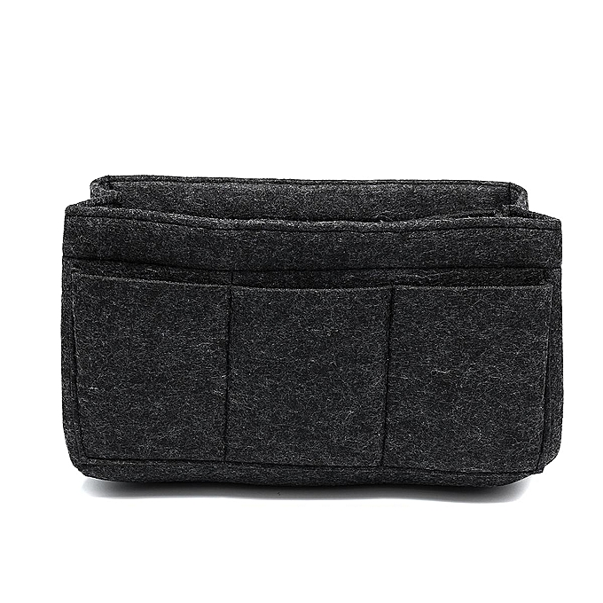 30b379d8f8 Felt Insert Bag Multi Pockets Handbag Purse Organizer Zipper Medium Large  XL  XL 34