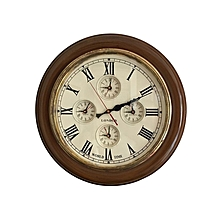 Classic World Clock Antique - Brown & Gold
