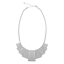 Metal Tab Necklace Silver, One size, beautiful design