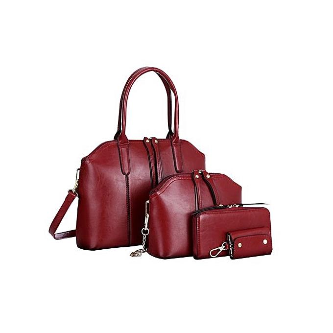 bluerdream-Fashion Women Handbag Shoulder Bag Leather Messenger Bag Satchel  Tote Purse-Red ca8be6fac8