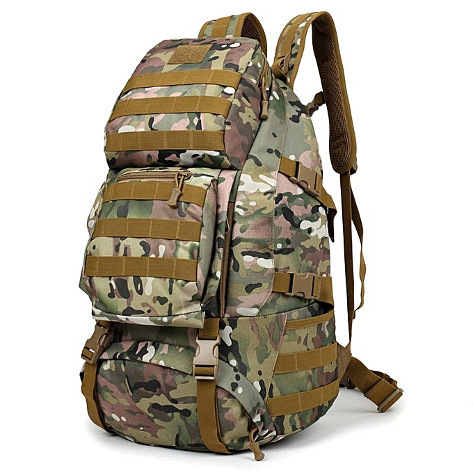 Large-capacity outdoor mountaineering bag army fan backpack waterproof  travel bag sports travel backpack 670699cc64121
