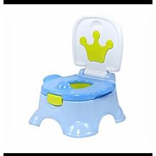 Infant Potty and Step Stool Potty - Blue