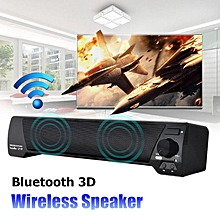 LP-09 Wireless Bluetooth 3D Surround Theater Soundbar Stereo Bass Speaker Tablet Black