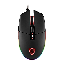 Motospeed V50 4000dpi Adjustable Avago A3050 USB Wire RGB Backlit Gaming Mouse Support Macro Setting