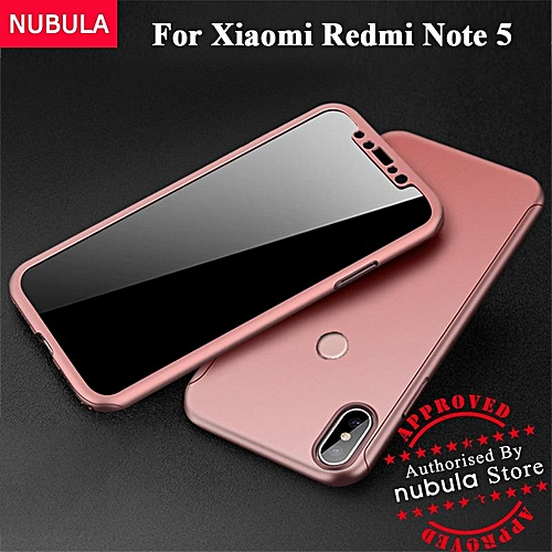 new styles 72026 55a76 For Xiaomi Redmi Note 5 / Redmi Note 5 AI Casing 360 Degree Real Full Body  Ultra-thin Hard Slim PC Case With Tempered Glass For Xiaomi Redmi Note 5 /  ...