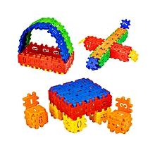 110pcs Kids Building Blocks Multicolor Assemble Educational Puzzle Toy - Colormix